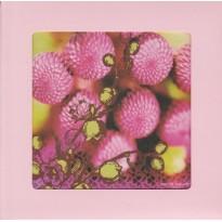"""Pompons roses"", carte cadre avec chevalet"