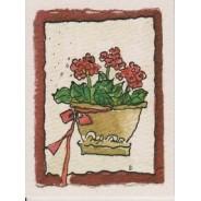 Mini carte avec fleurs