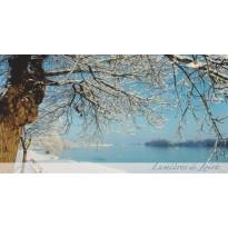Loire sous la neige, carte postale photo