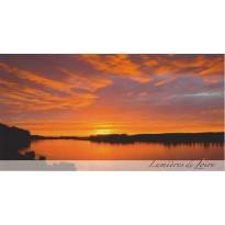 Coucher de soleil sur la Loire, carte postale paysage