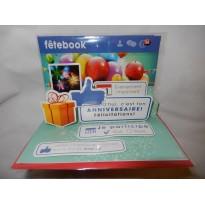 Carte d'anniversaire façon Facebook