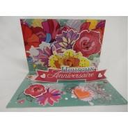 Carte Heureux Anniversaire fleuri