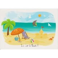 Air de Vacances, Ici c'est le Paradis !, carte postale
