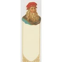 Léonard de Vinci, portrait du peintre en marque-pages