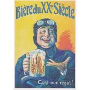 Carte publicitaire Bière du XXème siècle