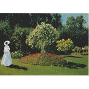 Dames dans le Jardin de Claude Monet carte reproduction