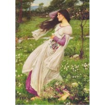 """Anémones"" de John William Waterhouse, reproduction en carte postale."