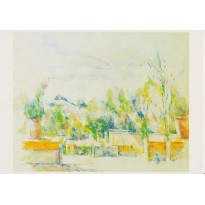 """""""La terrasse du Jardin des Lauves"""" de Paul Cézanne en carte postale reproduction"""