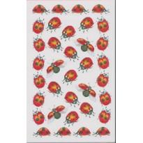 """Stickers """"Coccinelles rouges et jaunes"""" en planches"""