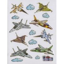 """Planche de Stickers """"Avions Militaires"""""""