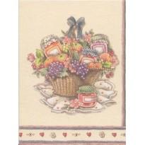 4 Mini cartes Bouquets de fleurs, cartes doubles