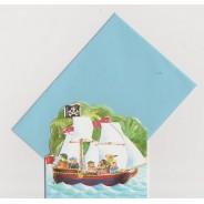 Mini cartes Les Oursons et les bateaux