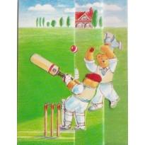 Les Oursons jouent au cricket, mini cartes 3D