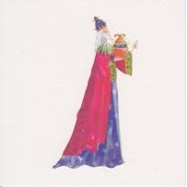Roi Mage Melchior, carte de Noël