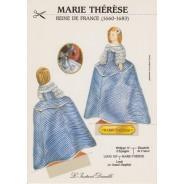 """Carte """"Marie-Thérèse d'Autriche"""", carte silhouette à découper"""