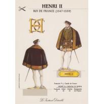 """Carte """"Henri II"""", carte silhouette à découper"""