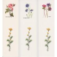 """jeu de 3 marque-pages à fleurs """"aquarellées"""""""