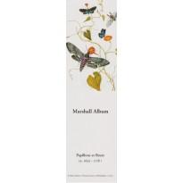 Papillons et Fleurs, extrait de planches botaniques en marque-pages