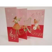 Les Anges musiciens, carte de Noël à 3 volets