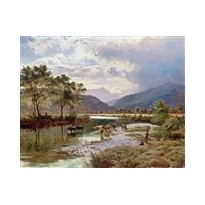 Scène de campagne, reproduction sur toile