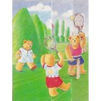 Tennis à Roland Garros pour les oursons, mini carte 3D pour enfants