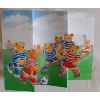 Les Oursons font du sport, jeu de 6 cartes assorties pour enfants