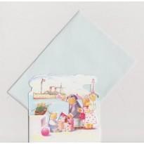 Les Oursons en croisière, départ sur le Quai, mini carte pour enfants