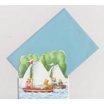 Régates en mer pour Les Oursons , cartes pour enfants