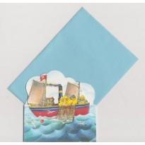 Les Oursons pêcheurs en mer, cartes  pour enfants