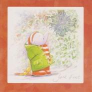 Jack l'Elephanteau en hiver, carte de Noël pour enfants