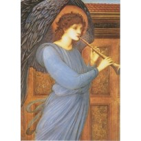 Anges jouant du flageolet de Edward Burne-Jones, peintre britannique 19ème