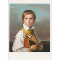 Felix Schadow, reproduction d'un portrait en carte postale