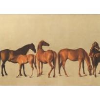 """""""Juments et Poulains"""" de Georges Stubbs, reproduction en carte postale"""