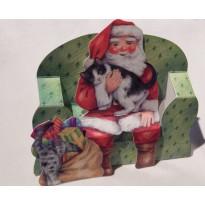 Les Chats du Père Noël - carte de Noël en 3D