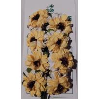 Dalhias jaunes miniatures pour scrapbooking et décorations  tous supports