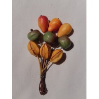 Fruits exotiques, caramboles miniatures pour scrapbooking et créations cartes.
