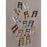 Notes de musique miniatures bois or et argent