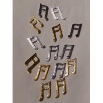 Notes de musique miniatures bois or et argent - scrapbooking