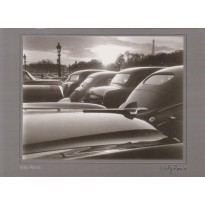 Place de la Concorde 1952, photo de Willy Ronis en carte postale