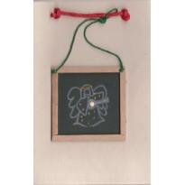 Ange musicien, carte de Noël sujet déco de sapin