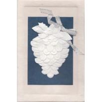 Pomme de Pin en pliage papier, carte de Noël artisanale