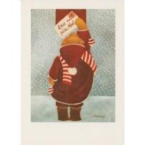Lettre au Père Noël, carte postale pour faire sa liste.