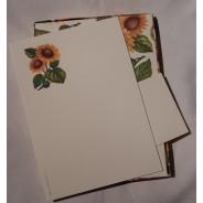 Bloc correspondance à fleurs de tournesols.