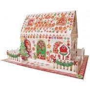 Maison en pain d'épices, calendrier de l'Avent en 3D