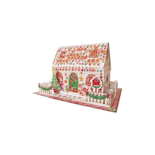Maison de pain d 39 pices en 3d grand calendrier de l 39 avent carterie poitiers - Maison calendrier de l avent ...