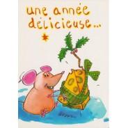 Pour une Année délicieuse, carte humoristique de Bonne Année