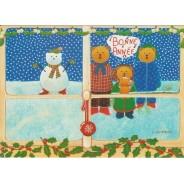 Bonne Année avec les ours - carte pour enfants