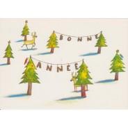 Bonne Anée au Pays des Rennes - cartes pour enfants
