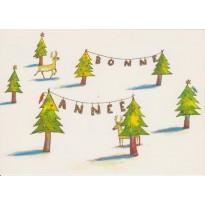 Bonne Année au Pays des Rennes - cartes pour enfants