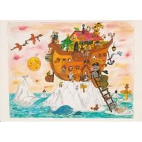 Arche de Noë ou Arche de Noël - carte de Noël pour enfants